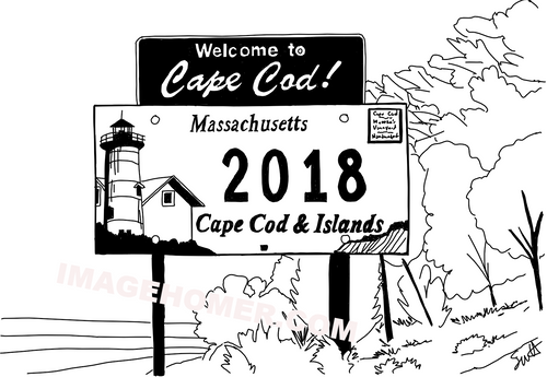 Welcome To Cape Cod Massachusetts Sign 2018