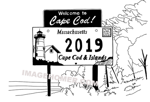 Welcome To Cape Cod Massachusetts Sign 2019