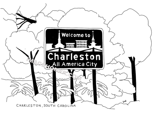 Charleston South Carolina Welcome Sign