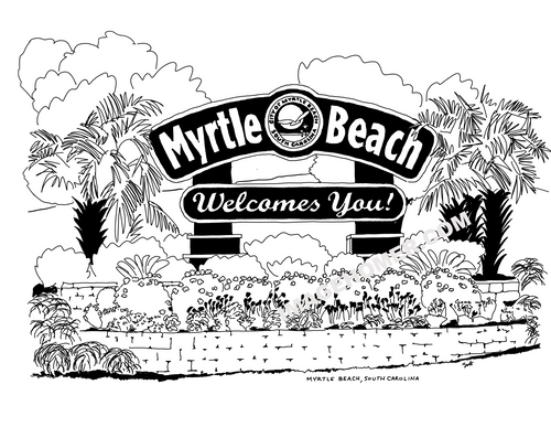 Myrtle Beach South Carolina Welcome Sign