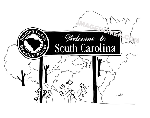 South Carolina State Welcome Sign
