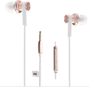 Original Xiaomi Mi IV In-ear Dual Dynamic Driver Wired Control Earphone Headphone with MIC for Android iOS - Gold