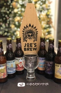 Joe's Brew 6-pack wood crate sampler