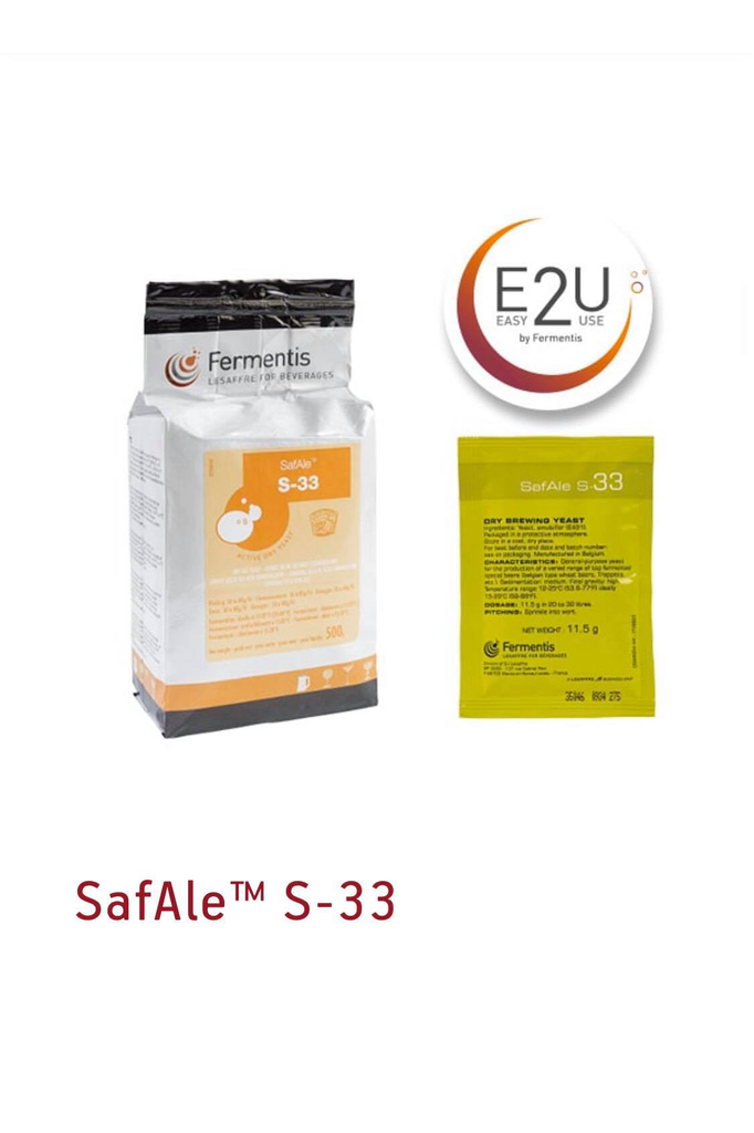 Fermentis SAFALE S-33 Brewers Yeast 11.5 gm
