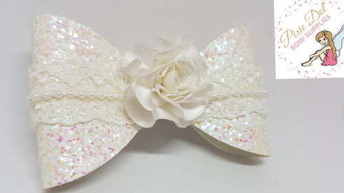 Ribbon Rosette Flowers (16 different colours available)