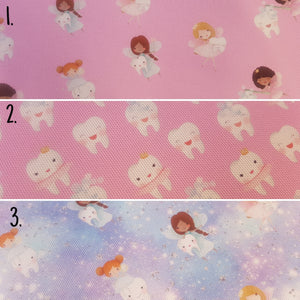 Tooth Fairy and Teeth Printed Fabrics