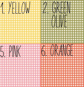 Gingham Style printed fabric