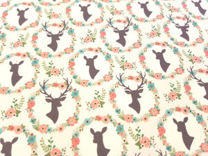 Stag printed Fabric - (4 to choose from)