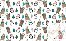 Penguin and Bear A4 Christmas Fabric