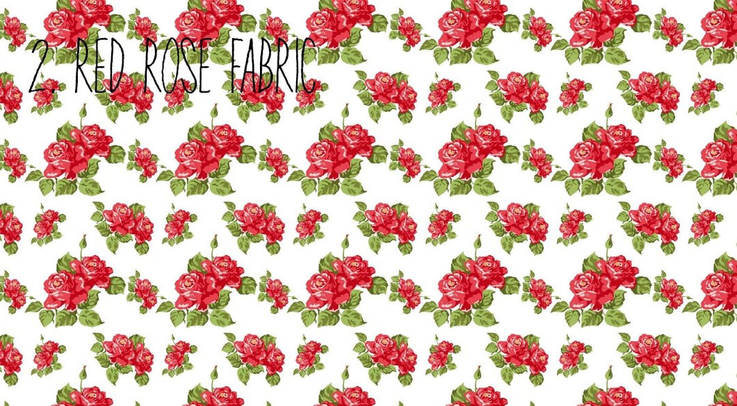 Red Rose Fabric A4