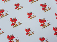 Mouse and Toadstool Printed