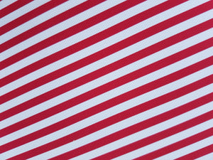 Red and White Stripe Fabric