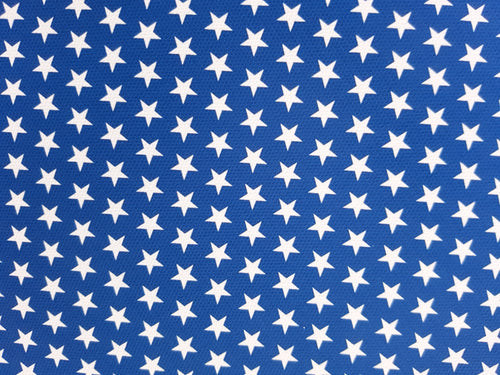 White Stars Blue Background - American