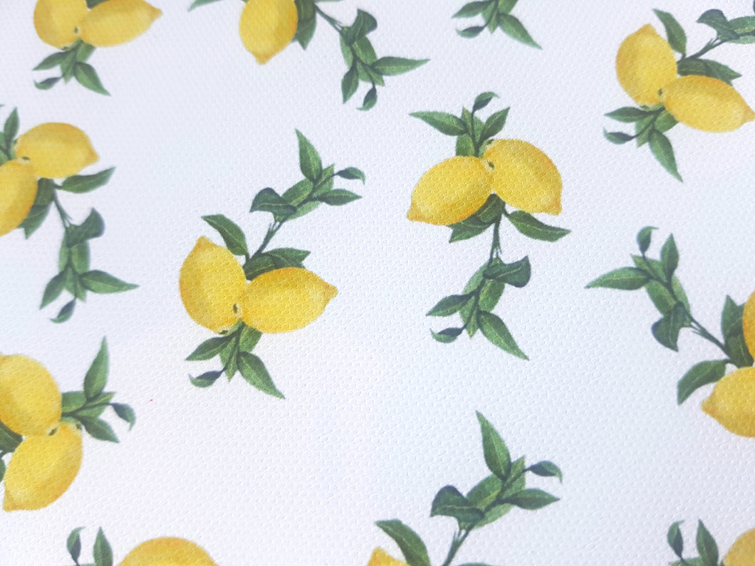 Plain Lemon Printed Fabric