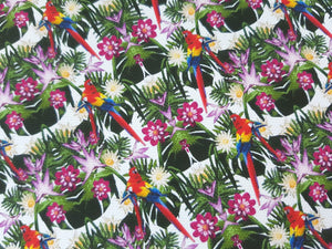 Tropical Parrot Printed Fabric