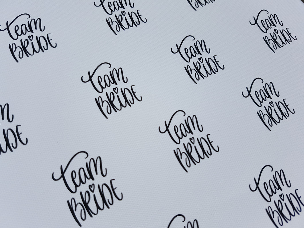 Team Bride Hen Do Fabric