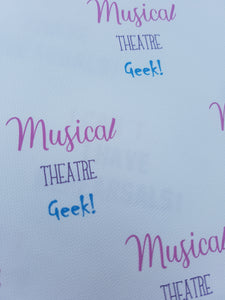 Theatre Quote Fabric