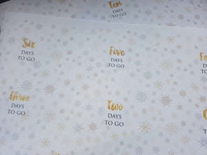 Elegant Christmas Countdown Printed Fabric 12 - Christmas Day