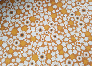 Mustard printed flower Fabric