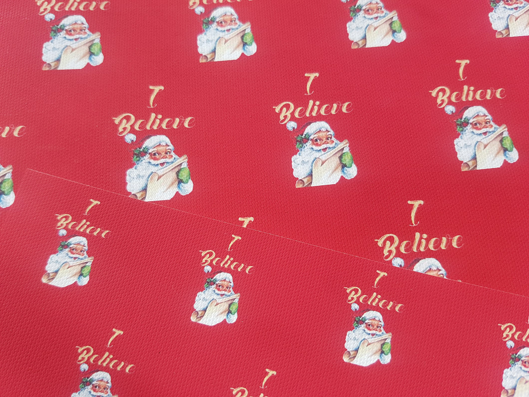 I Believe Christmas fabric