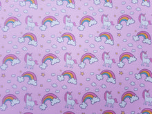 Pink Unicorn Bow fabrics (2 to choose from)