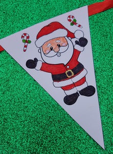 Christmas DIY Colour in Bunting including personalisation option