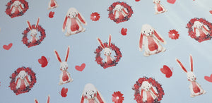 Easter Bunny blue back Fabric