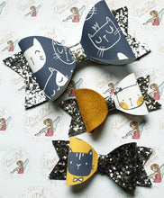 Cat Printed Bow Fabric (3 to choose from)