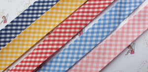 20mm Gingham Bias Binding metre lengths