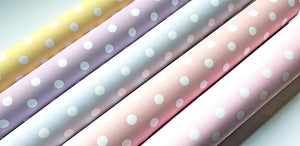 Polka Dot Printed Fabric (Large dots)