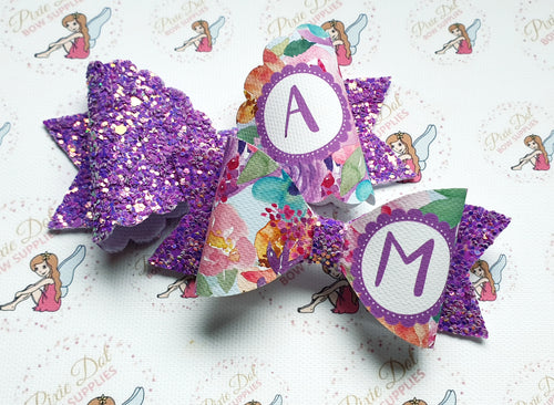 Flower Background Alphabet Fabric