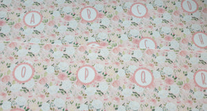 Pink and White Rose Alphabet