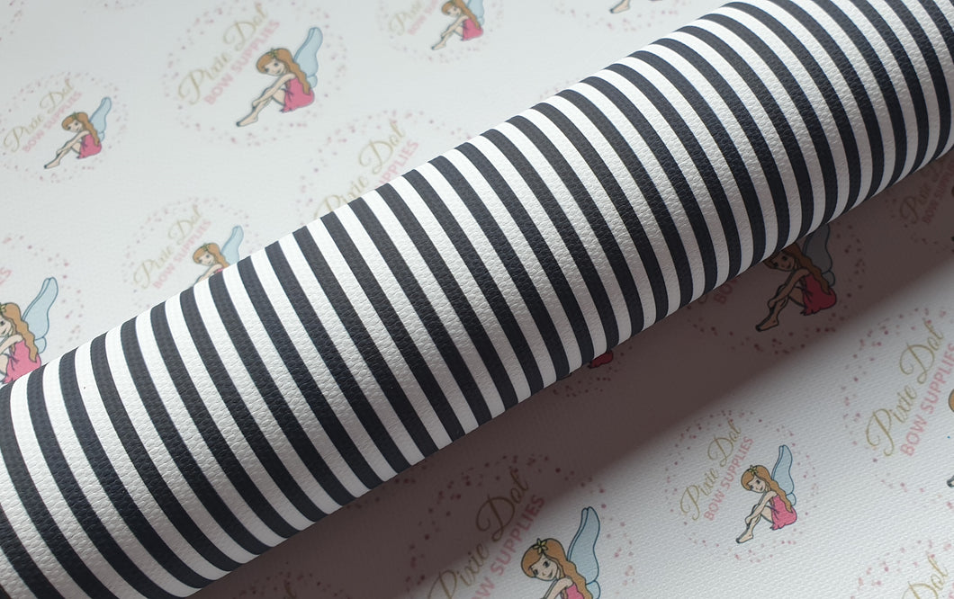 Black and white stripe fabric