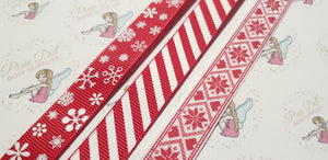 Christmas Grosgrain 16mm Ribbon