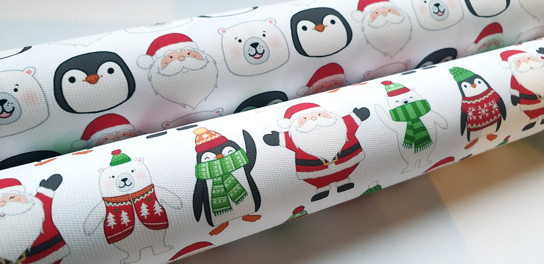 Santa, Polar Bear, Penguin