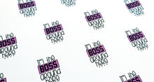 I'm the boss around here printed fabric