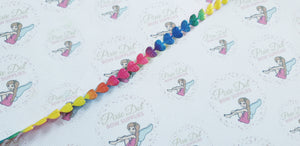 Trim: Rainbow Heart: 25m x 8mm