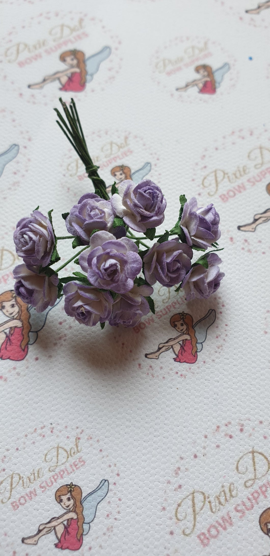 2 Tone Lilac mulberry 10mm open rose