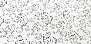 Football Chubbicorn IPS Kawaii Collection - Colour in
