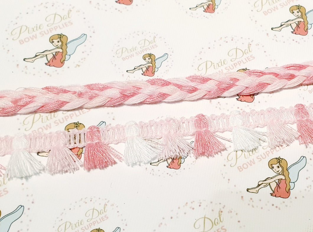 Pink Trims (Braid and Tassels)