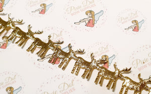 Gold Reindeer trim in metre lengths