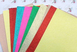 Fine Glitter Leatherette 10 pack Bundle A4
