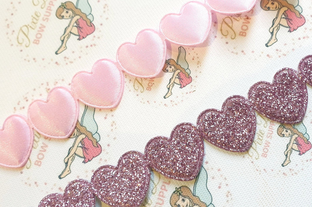 Heart Trim Glitter / Plain