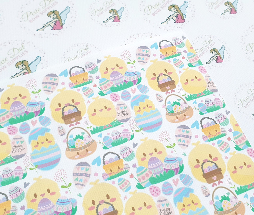 Easter chick fabric