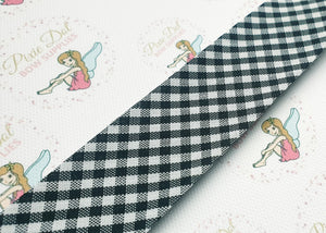30mm Gingham Black Bias