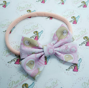 Baby Pink Teddy Bias Binding