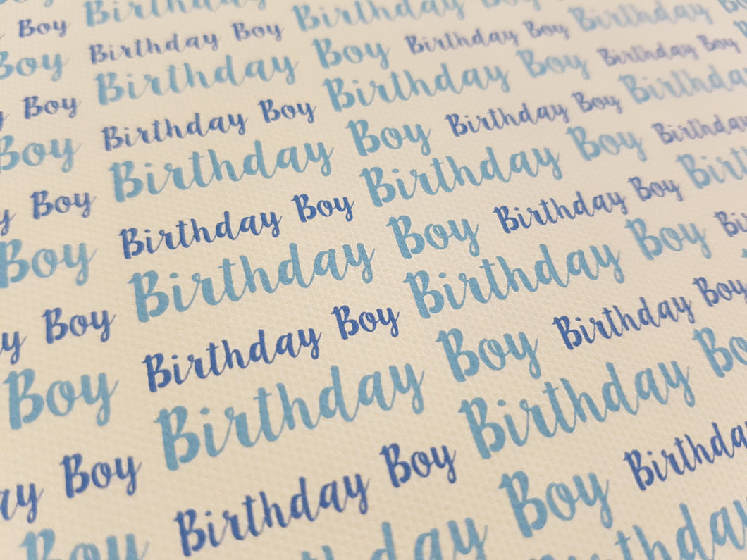 Birthday Boy Printed Fabric