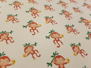 Monkey Printed Fabric