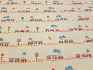 Train A4 Printed Bow Fabric