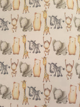 Zoo Animals Printed Bow Fabric